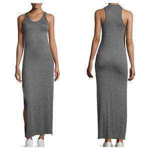 THEORY Soft Jersey Maxi Side Slit Long Tank Dress